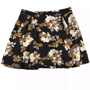 Floral Printed Swing Skirt with Pockets
